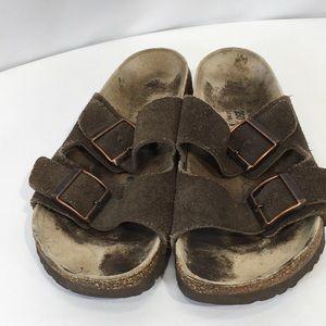 Birkenstock Betula Sandals Sz 39 EU Brown Suede